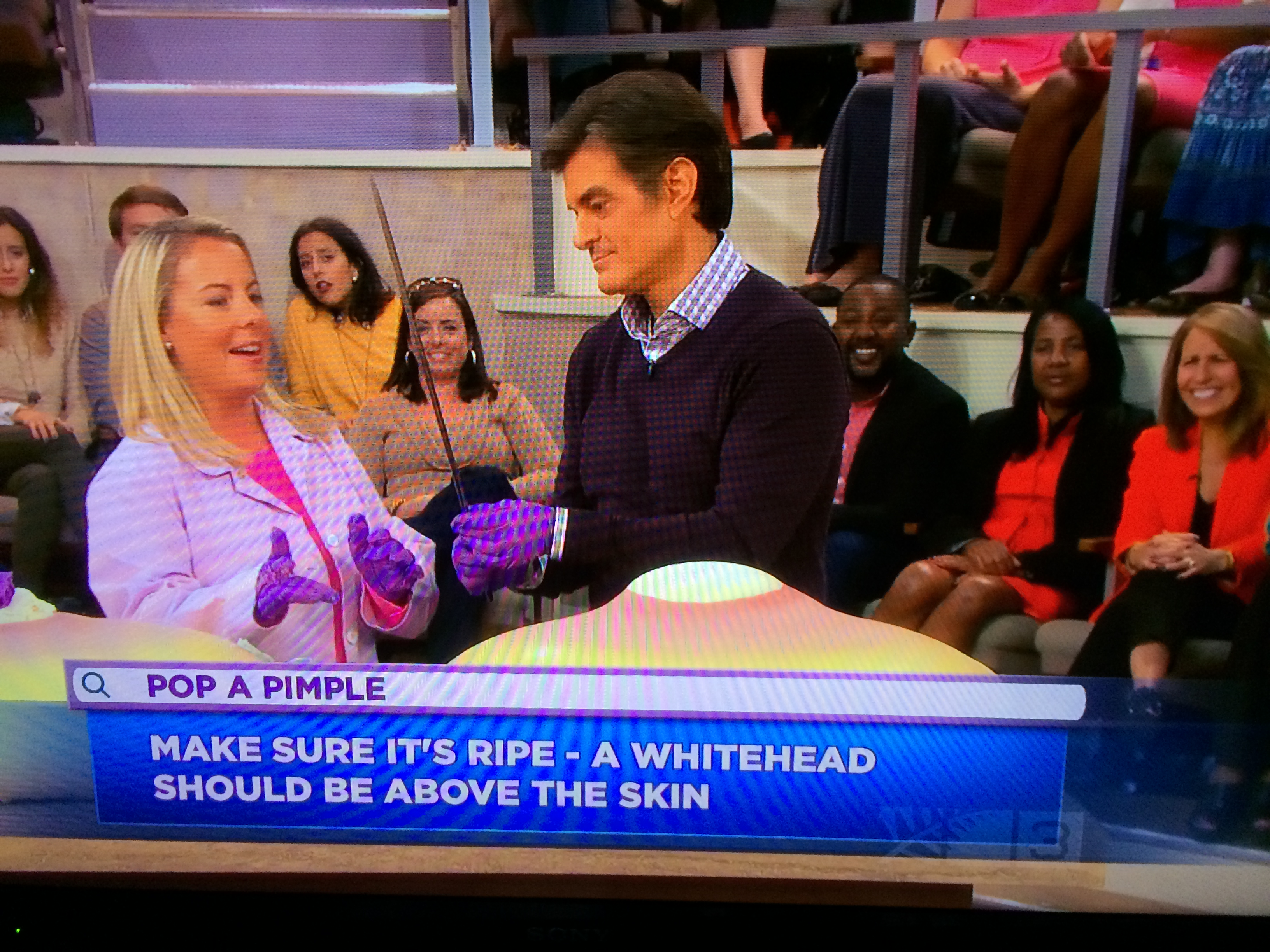 Dr Oz has an enormous zit