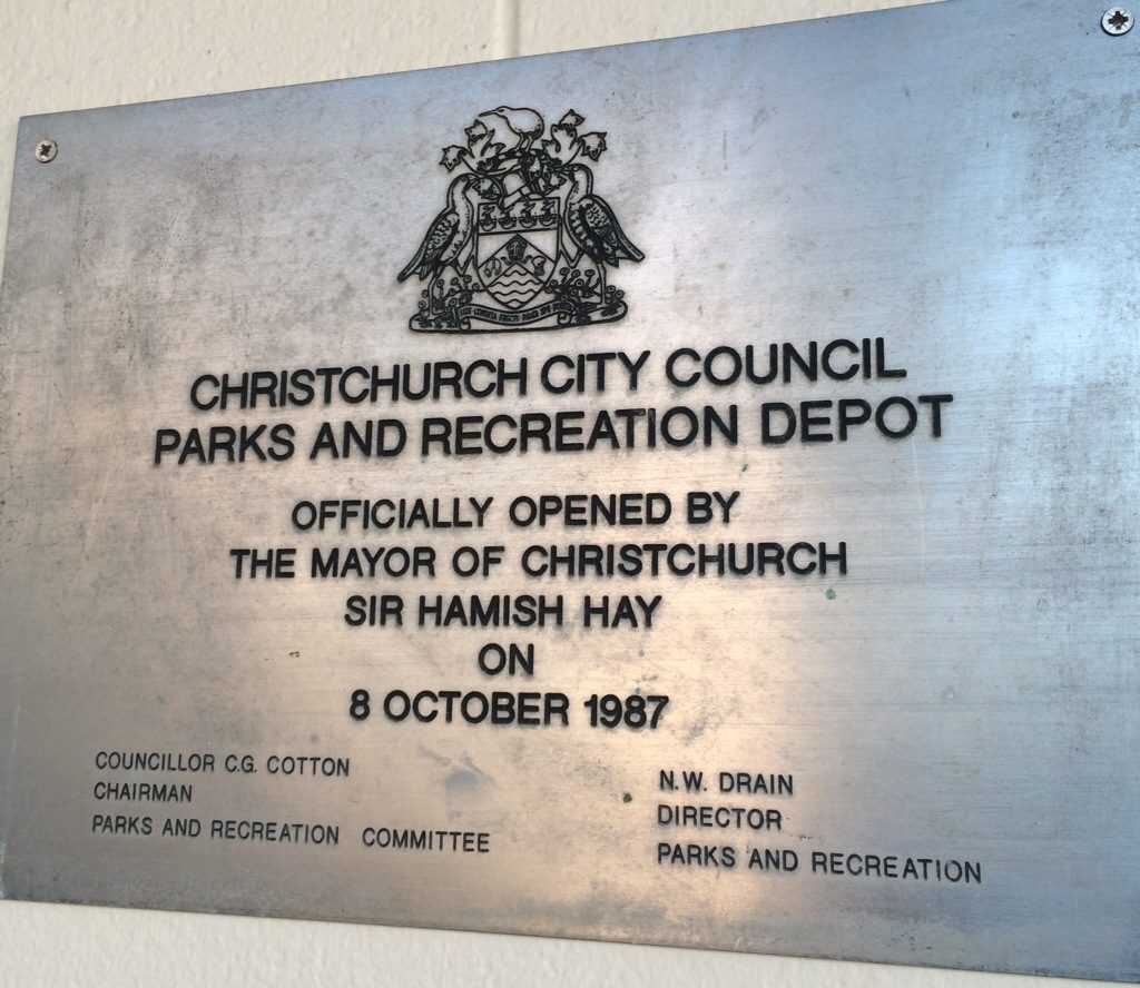 Parks and Recreation plaque