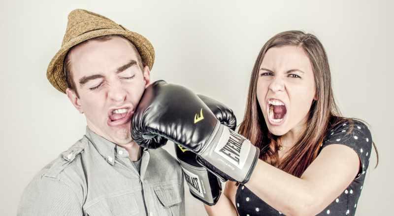 Friends fight