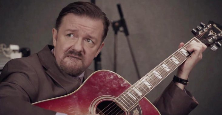 Screengrab of Ricky Gervais as David Brent